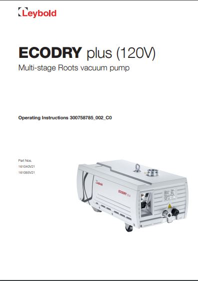 Ecodry 120V manual